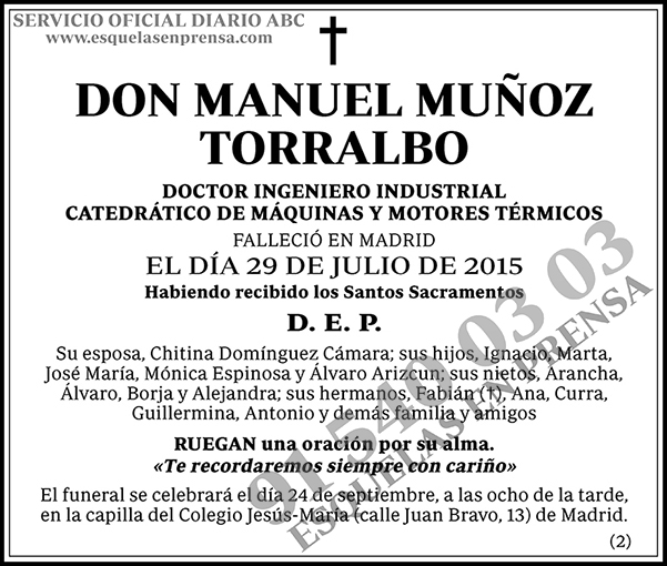 Manuel Muñoz Torralbo